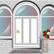 Porch door — Stock Vector