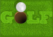 Inscription golf — Stockvector