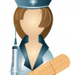 Icon of nurse — Imagen vectorial