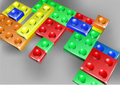 Interlock bricks design — Stock Vector