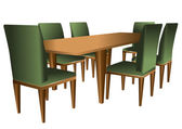 Table and chairs — Stockvector