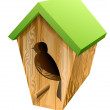 Stock Vector: Birdhouse