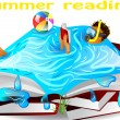 Stock Vector: Summer reading