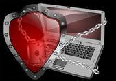 Sicurezza informatica — Vettoriale Stock