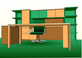 Modern office interior — Vector de stock