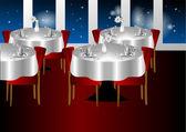 Restaurant night indoors — Stock Vector