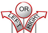 Left or right — Stock Vector