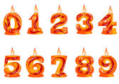 Birthday candle as numbers — Stock vektor