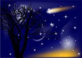 彗星とツリー — ストックベクタ