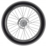 Mountain bike wheel — Stock Vector #50210241