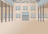 Warehouse interior — Cтоковый вектор