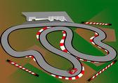 Car test track — Stock Vector