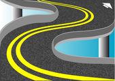 Dvě žluté čáry — Stock vektor