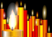 非常に熱い蝋燭 — ストックベクタ
