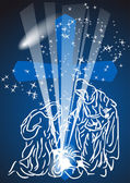 Christmas comet — Stock Vector