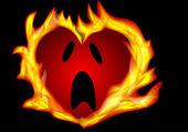 heart burning — Stock Vector