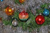 красочные рождественские шары — Стоковое фото