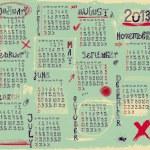 2013 Calendar — Stock Vector #27316809