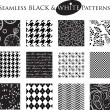 Black and White Seamless Patterns — Stock Vector #27316895
