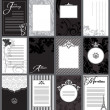 Set of 12 elegant black and white cards — Stock Vector #27316909