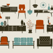 Stock Vector: Furniture and Home Accessories