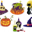 Halloween Icons — Vettoriali Stock