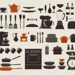 Aparatos de cocina — Vector de stock