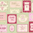 Vintage ornate frames and labels — 图库矢量图片