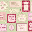 Stock Vector: Vintage ornate frames and labels