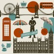 London Landmarks — Vector de stock