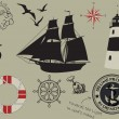 Nautical design elements — Stock Vector #27317415
