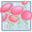 Whimsical Pink Flowers Background — Stock Vector #27317499