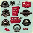 Vintage Style Labels, — Stock Vector