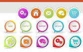 3D Navigation Icons — Stock Vector