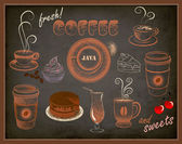 Coffee and Sweets Ads — Stock Vector