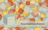 Seamless Cube Pattern — Stock Vector