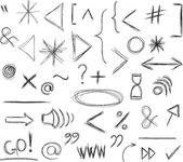 Miscellaneous Doodle Symbols — Stock Vector