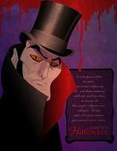 计数吸血鬼万圣节请柬 — 图库矢量图片