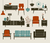 Furniture and Home Accessories — Stock Vector