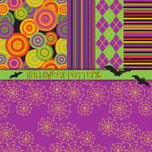 Halloween Patterns — Stock Vector