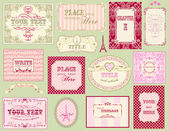 Vintage ornate frames and labels — Stock Vector