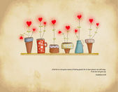 Planted Hearts — Stock Vector