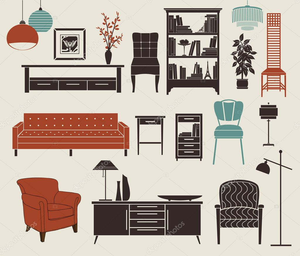 Furniture And Home Accessories Stock Vector Lanan 27317227