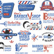 Set of Barber Shop Signs, Symbols and Icons — Stock Vector #27627923