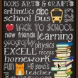 Back to School Chalkboard Typography Poster — Stock Vector