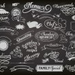 anúncios de lousa — Vetorial Stock