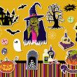 Halloween Symbols and Icons — Imagen vectorial