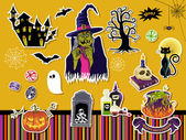 Halloween Symbols and Icons — Stock Vector