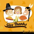 Thanksgiving Greeting card — Vettoriali Stock