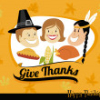 Stock Vector: Thanksgiving Greeting card